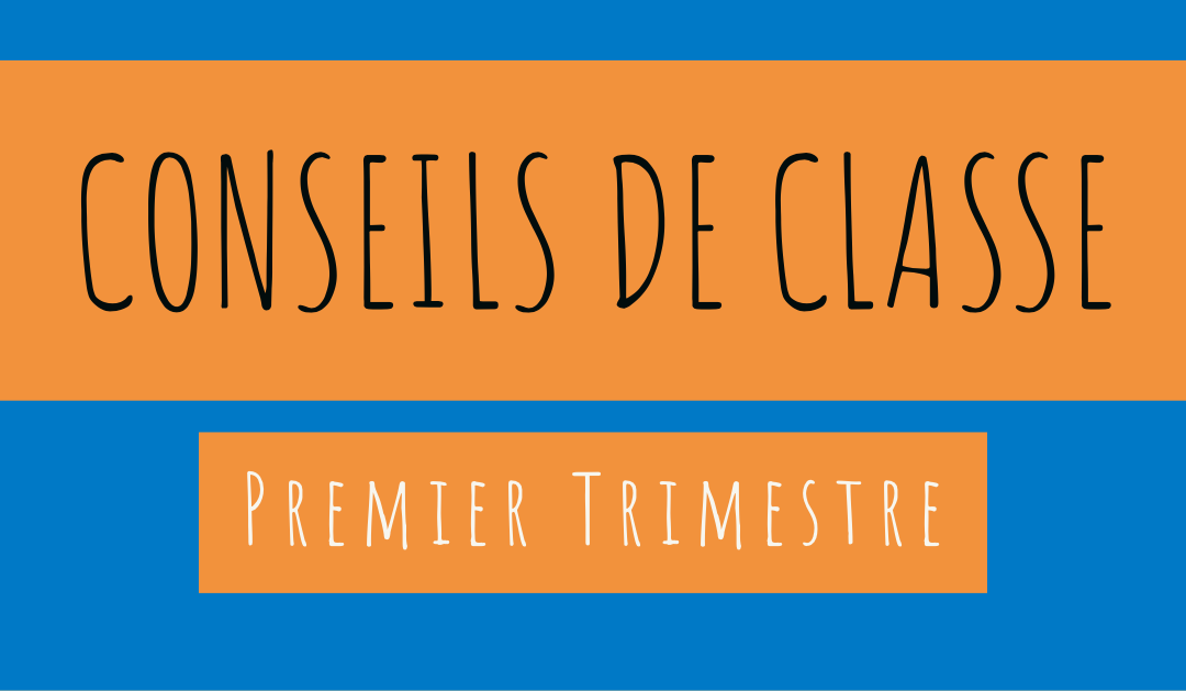 Planning des conseils de classe 1 Trimestre