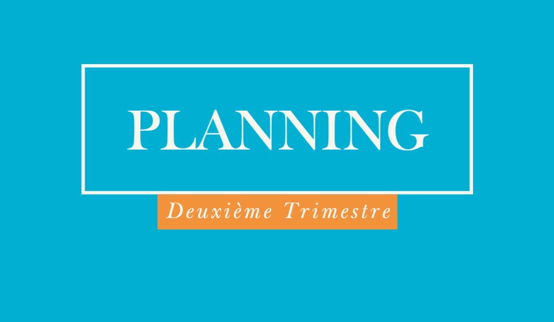Deuxième trimestre : planning conseils de classe