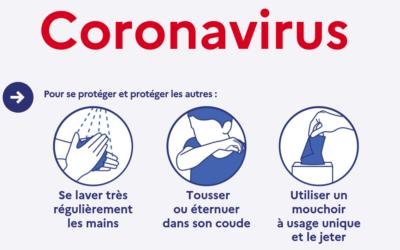 Prévention contre le Coronavirus