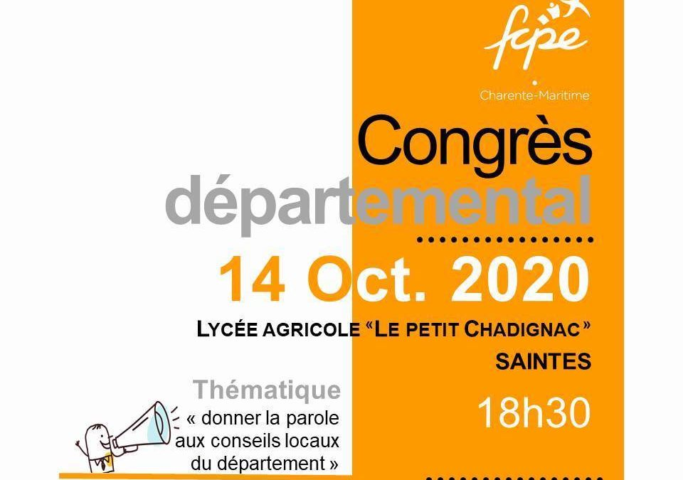 congres départemental Fcpe 17